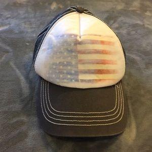 Billabong American flag trucker hat